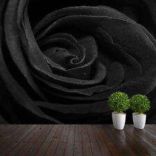 WALLPAPER BLACK ROSE CLOSEUP WALL PAPER 300cm wide 240cm tall WMO126