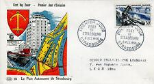 FRANCE FDC - 176 1080 2 PORT DE STRASBOURG - 6 10 1956