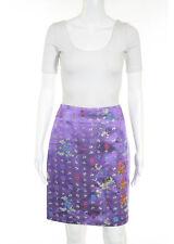 BAZAR CHRISTIAN LACROIX Multi-Color Embroidered Floral A-Line Skirt Sz IT 36