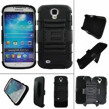 Black Outer Box Cover  for Samsung Galaxy S4 S IV i9500  hard phone outer case