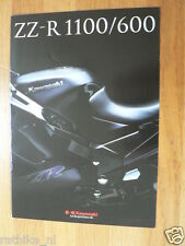 K074 KAWASAKI  BROCHURE PROSPEKT FOLDER ZZ-R1100 AND 600 DUTCH 8 PAGES