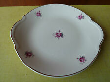 Ancien plat à tarte en demi porcelaine de Badonviller, art pop, French antique
