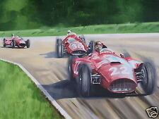 Lancia Ferrari D50 original oil painting