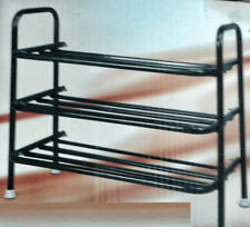 SHOE RACK SHOE ORGANISER SHOE SHELF FOOT WEAR RACK BRANDED METAL 3 TIER FOLDING