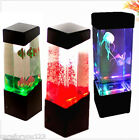 Jellyfish Fish Aquarium Tank Volcano LED Water Lamp Mood Night Light Home Decor