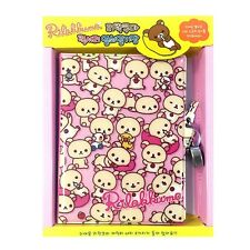San-x Rilakkuma Secret Locking Journal Diary with Lock and Keys : Pink