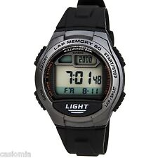 Casio W734-1A Mens Black Digital Led Sports Watch w/ LAP MEMORY 5 Alarms