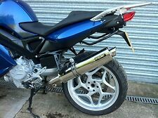 BMW F800 S, ST 2006- Stainless Steel Round Road Legal Exhaust Silencer, UK Made