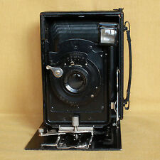 Ernemann Heag I mod. 1909 German 9x12 folding camera CLA works nice