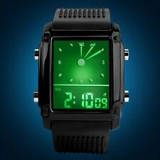 SKMEI Fashion Boy LED Sports Digital Analog Waterproof Rubber Wrist Watch