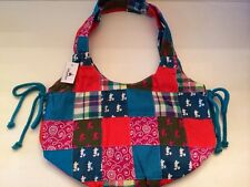 BRAND NEW DISNEY PARKS AUTHENTIC MADRAS PLAID MICKEY MOUSE HOBO PURSE HAND BAG