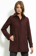 NWT $995 Burberry Brit Elmsby Wool Cashmere Car Coat Jacket Size 8 42