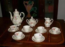 servizio tè caffè x6 completo 1950ca porcellana Mitterteich Bavaria fiori numero