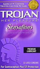 2 Pack - Trojan Her Pleasure Sensations Ribbed Latex Condoms 12 Each
