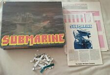 Avalon Hill's Submarine Vintage Board Game SEE DESCRIPTION