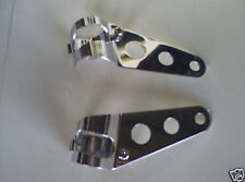 MOTORCYCLE  UNIVERSAL CAFE RACER HEADLIGHT BRACKETS CHROME NEW