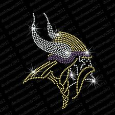 NFL - MN Vikings - Bling - Iron-on Rhinestone Decal Transfer