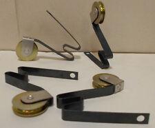 """Lot of 4 Sliding Screen Door Rollers, 1"""" Steel Wheel, Steel Tension Spring, B513"""