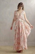 NWT Varun Bahl Sakura Maxi Dress 6 Anthropologie Romantic Draping Gown Princess