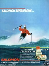 Publicité advertising 1985 Les Fixations  Chaussures de ski Salomon