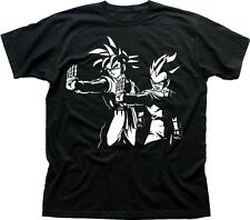 DRAGON BALL Z PULP FICTION GOKU Cosplay Anime Manga black cotton t-shirt FN9605