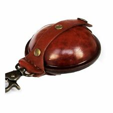 WILKINS Light Brown LEATHER AIRGUN PELLET POUCH - LARGE 3.5""