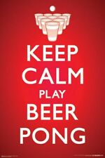 DRINKING POSTER Keep Calm Play Beer Pong