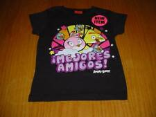 NEW ANGRY BIRDS BEST FRIENDS T-SHIRT GIRLS 7/8 FIFTH SUN SPANISH MEJORAS AMIGOS