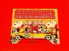 VINTAGE PEANUTS SNOOPY CALENDAR FUN FACT 1983 CHARLIE BROWN SCHULZ COMIC STRIP