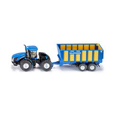 Siku 1947 New Holland T Center-pivot steering with Silage wagon blue Scale 1:50