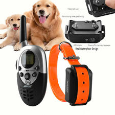 Rechargeable Waterproof 1000Yard Shock Vibra Remote Pet Dog Easy Training Collar