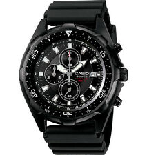 Casio Men's AMW330B-1AV Black Resin Quartz Watch with Black Dial