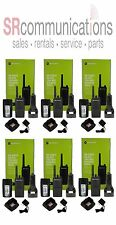 6 NEW MOTOROLA RMU2040 UHF 2W 4CH RADIOS RDU2020 PRIVATE BUSINESS FREQUENCIES