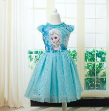 Pageant Kids Girls Frozen Princess  Elsa Party Dress Holiday Outwear  Size 6-7