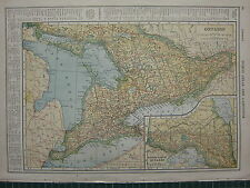 1926 MAP ~ ONTARIO COUNTIES PRINCIPAL CITIES & TOWNS MUSKOKA