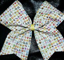 Cheer Bow - Emoji  - Glitter - Hair Bows