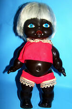 Blow mold INDIAN AFRICAN AUSTRALIA BROWN BLACK HARD VYNIL PLASTIC BABY DOLL TOY