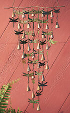 WIND CHIMES - DRAGONFLY WIND CHIME WITH SHIMMERING BELLS - DRAGONFLY WALL ART