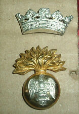 CAP BADGES-ORIGINAL VICTORIAN ROYAL IRISH FUSILIERS OFFICERS SILVER & GILT
