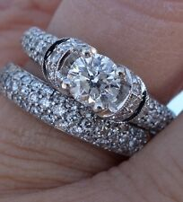 .55ct Center 1.10cts total diamond engagement ring 14k WG