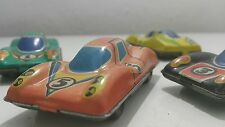 VINTAGE TIN TOY CAR SET SOVIET RUSSIA COMUNIST ERA USSR СССР METAL AND PLASTIC