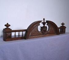 "43"" French Antique Pediment/Crest/Crown in Solid Oak Wood"