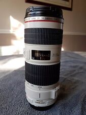 Canon EF 70-200mm F/4L IS USM Lens Mint with Genuine Canon A II (W) Tripod Mount