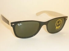 New RAY BAN  Sunglasses WAYFARER  Top Black On Beige  RB 2132 875 G-15 Lens 55mm