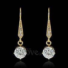 18K Gold Plated CZ Earring Use Swarovski Crystal EP1955 Free Gift Pouch