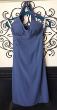 athleta pretty periwinkle halter dress Padded 4 tall