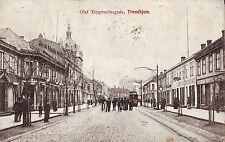 Norway Norge Trondheim Trondhjem - Olaf Trygvesonsgade 1910 postcard