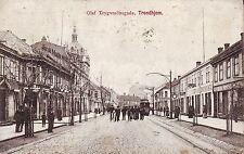 Norway Norge Trondheim Trondhjem - Olaf Trygvesonsgade 1910 postcard
