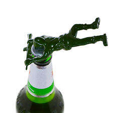 Army Man Bottle Opener Bar Tool Gag Gift Die Cast Metal-Khaki Green