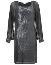 MONSOON LITTLE BLACK DRESS WITH SPARKLY SEQUINS - RRP £110 - SIZE 14